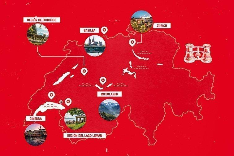 Mapa Guía Suiza