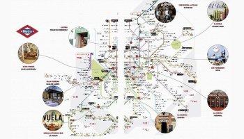 Plano Metro de Madrid Bares
