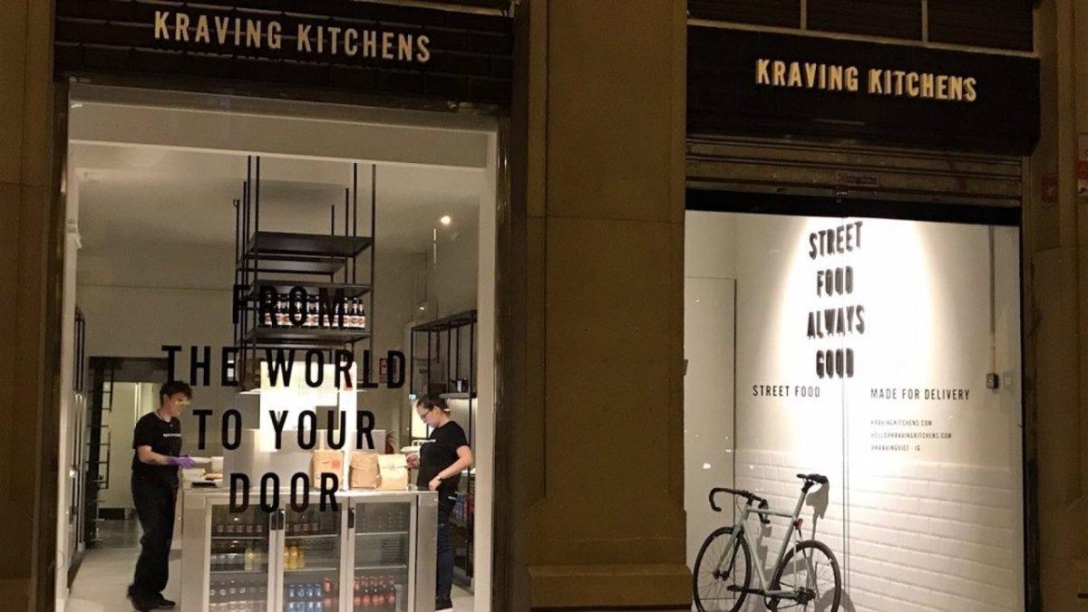 La cocina fantasma Kraving Kitchens abandona su actividad en Barcelona por la crisis del Covid