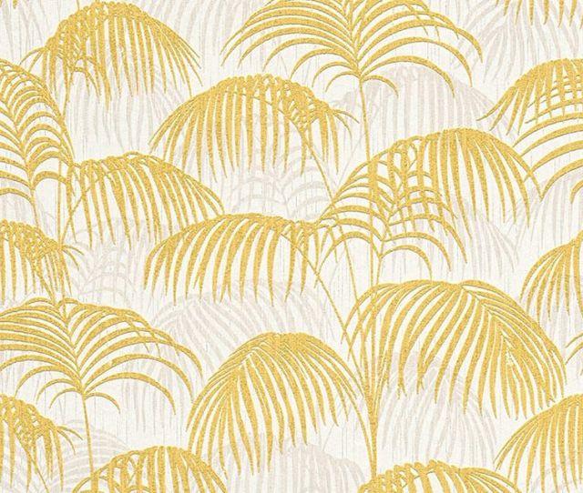 Tapete Palm Gelb