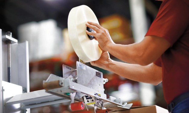 How does tape cause downtime on the packaging line?