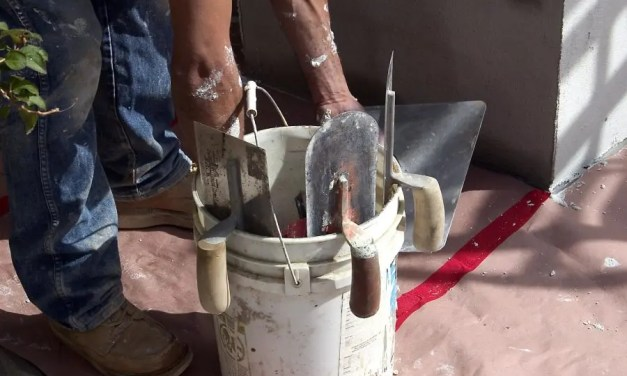 What's the difference between a two-step and three step stucco application method?