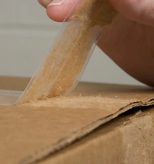 How is packaging tape tested for performance?