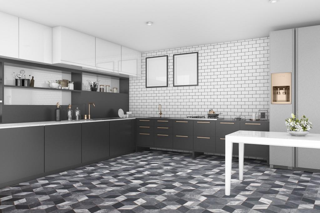 black and white vinyl flooring tapi