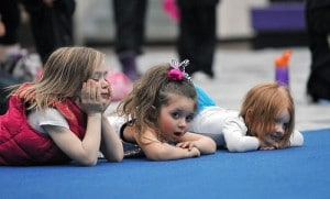 Little girls waiting