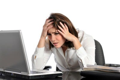 Woman looking frustrated - lack of flow