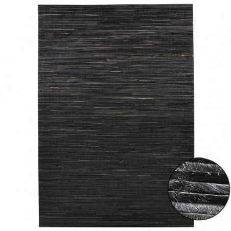 tapis salon en cuir veritable a poils ras sand par dhf