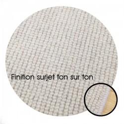 tapis sur mesure rond en laine blanc perle gamme dubai