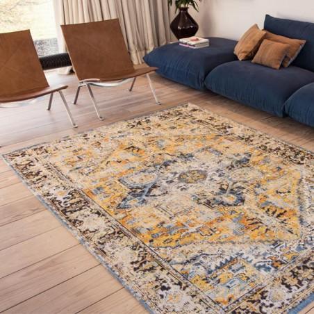tapis de salon new vintage antiquarian heriz gold par louis de poortere