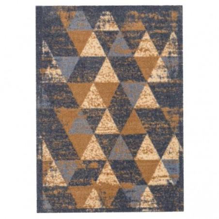 tapis d entree lavable en machine miabella motifs triangles beige par tapis chic collection