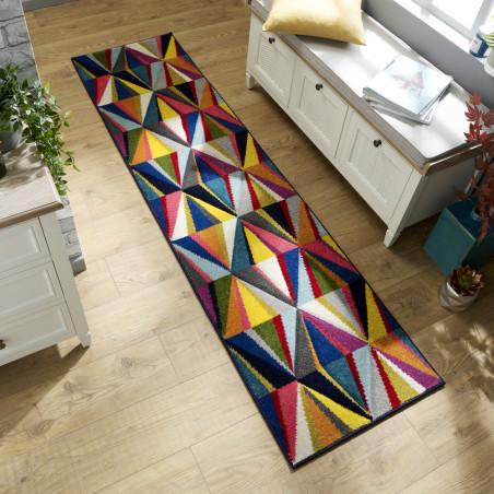 tapis de couloir design multicolore danza par flair rugs