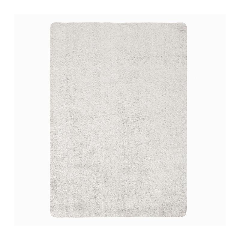 tapis de salon lavable en polyester lavo argent