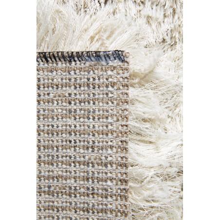 tapis shaggy long poils en laine et