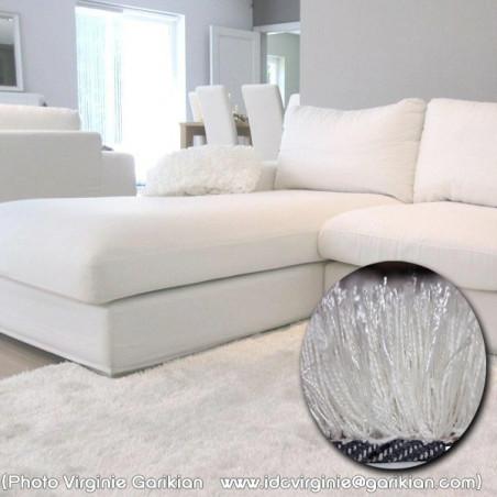 tapis shaggy blanc acheter un tapis de salon shaggy arte espina