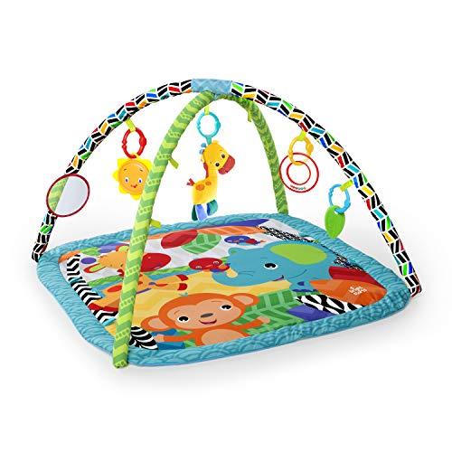 bright starts tapis d eveil zippy zoo lavable en machine arche de jeu 4 melodies jouets amovibles