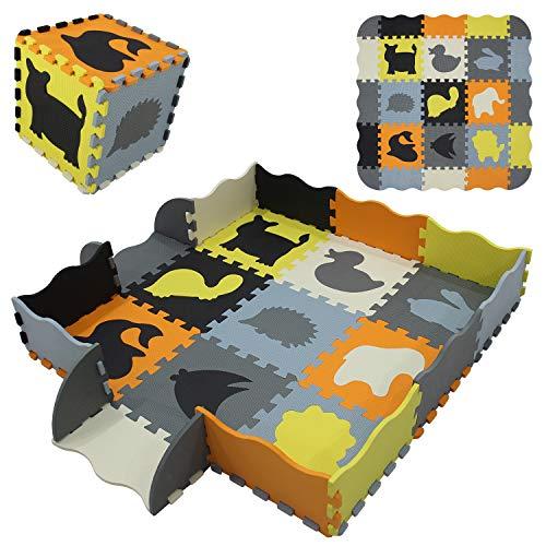 qqpp eva puzzle tapis mousse bebe ideal pour les tapis de jeux enfant 9 dalles 30 30 1cm animaux qqp 54b9f16