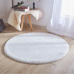 tapis rond rabbit skin