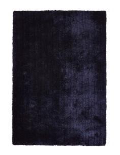 tapis shaggy bleu nuit