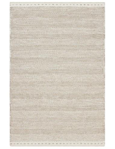 tapis beige en laine jaipur
