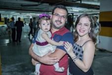 Cecilia, Felipe e Maia Jose Pontes