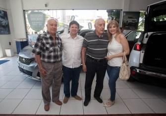 Otomar Soares, Lewton Monteiro, Franco e Angela Bonorandi