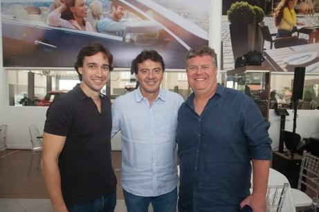 Rodrigo Carvalho, Luiz Teixeira e Evandro Colares