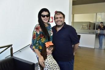 Lia, Lara e Marcos Viveiros