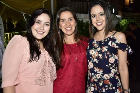 Andressa Melo, Germana Alcantara e Laura Passos