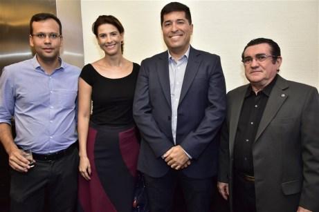 Bruno Maia, Renata Teles, Rodolpho Pires e Lúcio Pontes