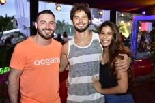 Yuri Cavalcante, Daniel Serrano e Flávia Menezes