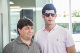 George Lima e Eduardo Carneiro preferiram a serra de Guaramiranga para o feriado do carnaval