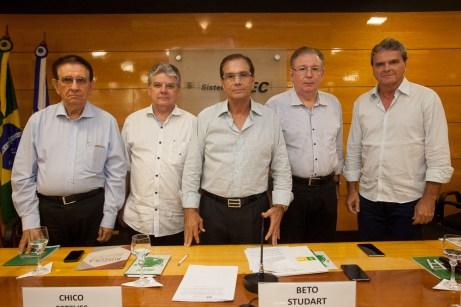 Renato Aragão, Chico Esteves, Beto Studart, Ricardo Cavalcante e Antônio José_