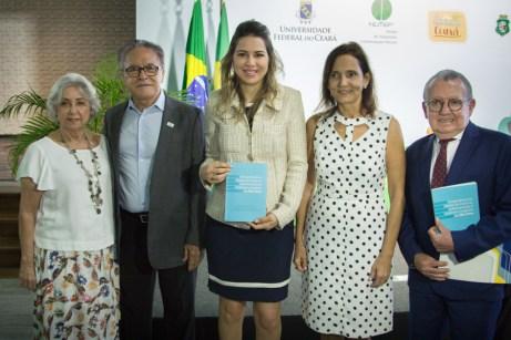 Rita Brasil, Lucivan Miranda, Onélia Leite, Izolda Cela e Henry Campos