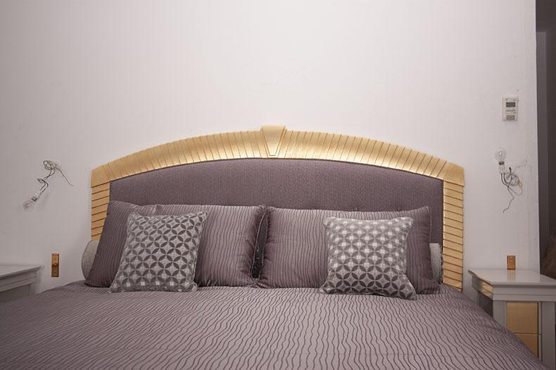 tete de lit sur mesure bordure bois