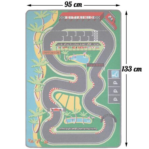 tapis circuit de voiture 95 x 133 cm
