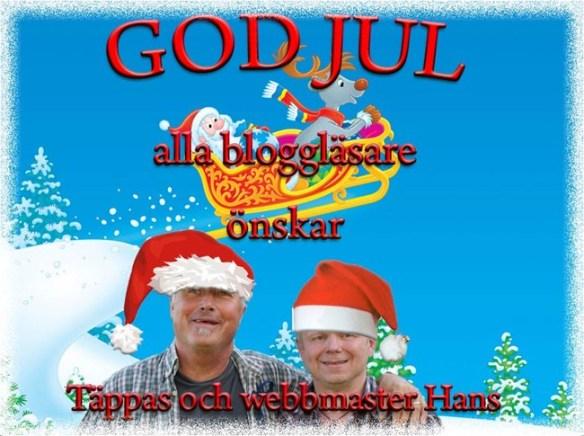 God Jul önskar Täppas och Webbmaster Hans