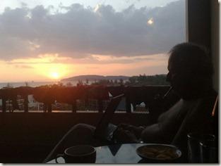 Bloggar på balkongen