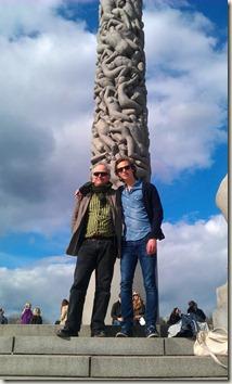 Felix och jag i Vigelandsparken