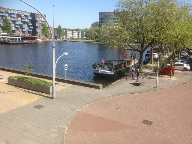 Utskikt från hotellet i Amsterdam
