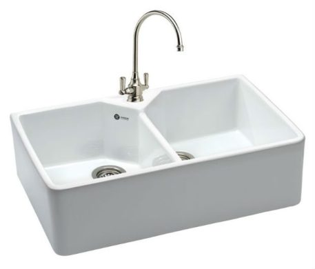 Carron Phoenix Kitchen Sink   Belfast Double Kitchen Sink 200 Taps     Belfast 200 With Arterian Mixer in Chrome