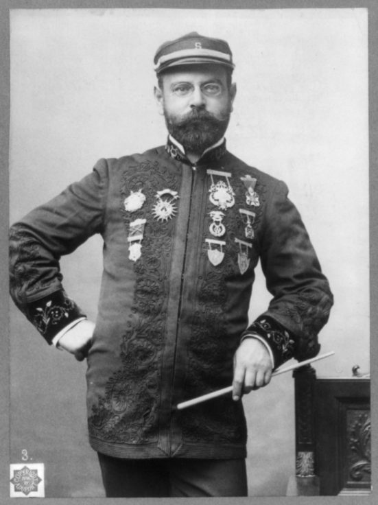 John Philip Sousa, 1854-1932, half-length portrait, standing, facing right. Date Created/Published: c1896. (Library of Congress Prints and Photographs Division)