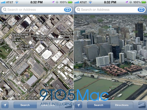 3D Maps Mock-Up with Google Street View (Left) and 3D Mapping Software (Right)