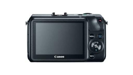 Canon EOS M Rear in Black