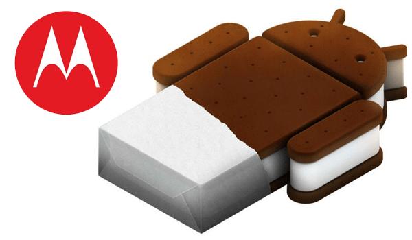 Motorola Ice Cream Sandwich Update