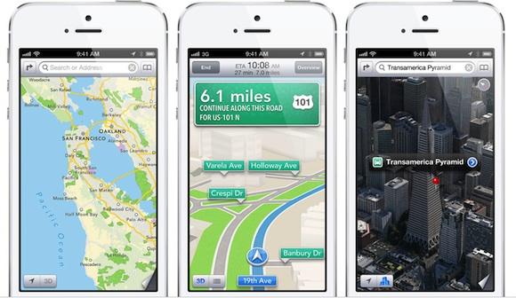 Apple maps in iOS 6