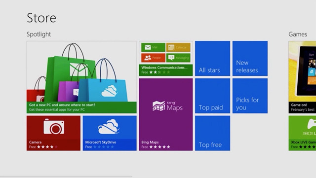 Windows 8 store Windows store surpassed 20,000 app mark