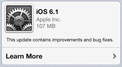 iOS 6.1features