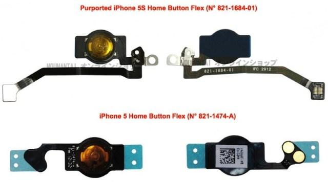 iPhone 5S parts leak