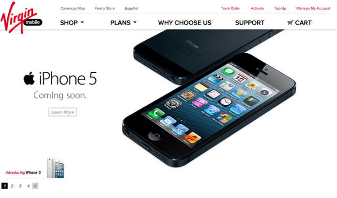 Virgin Mobile iPhone 5