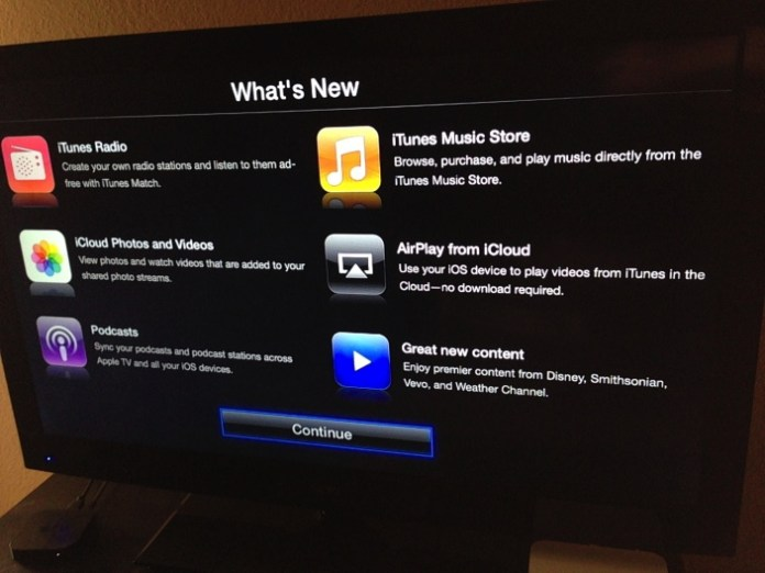 Some folks say new television product is coming next month. That is, perhaps, doubtful. What is now beyond question is the long-rumored Apple TV 6.0 update
